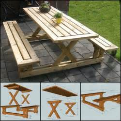 How To Build A Pallet Bench Best 25 Picnic Table Plans Ideas On Pinterest Outdoor