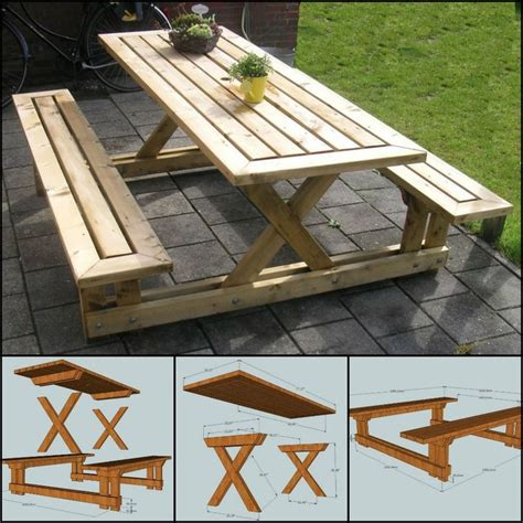 backyard picnic table best 25 picnic table plans ideas on pinterest outdoor