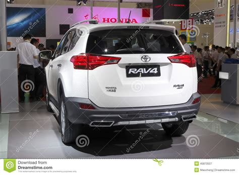 Auto Held by White Toyota Rav4 Suv Car Rear View Editorial Photography