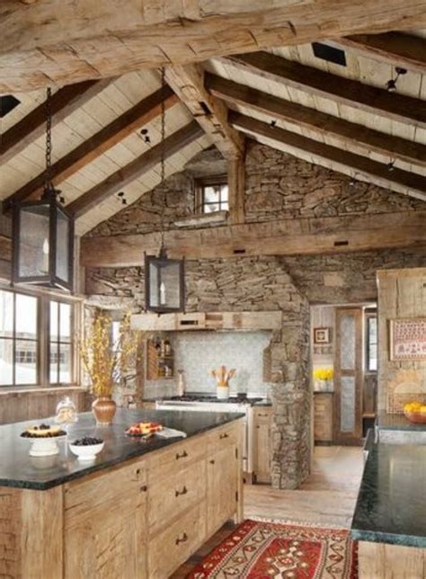 rustic cabin kitchen cabinets best 20 stone accent walls ideas on pinterest faux