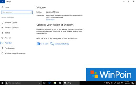 tutorial update ke windows 10 cara upgrade windows 10 home ke windows 10 pro winpoin