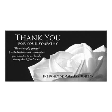thank you letter sympathy gift sympathy thank you memorial photo card
