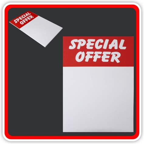 Gift Card Special Offers - sale cards special offer 200 x 125mm 8 quot x5 quot pack 12