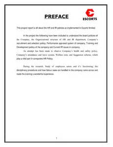 Preface Sample For Project Report Preface For Project Report Www Pixshark Com Images