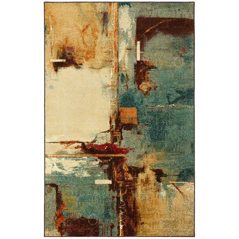 10 X 10 Ft Square Rug - mohawk home aqua fusion 10 ft x 10 ft square area rug