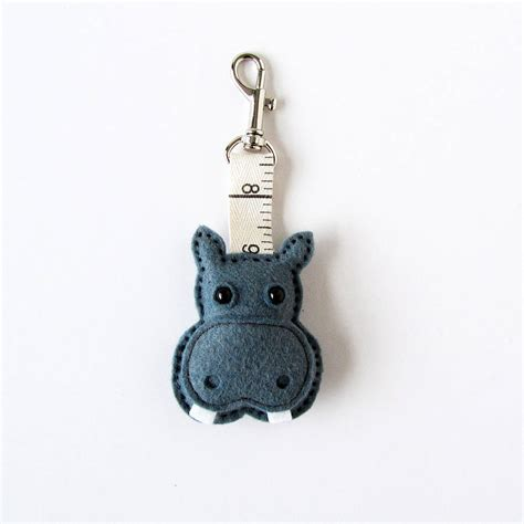 Handmade Keyring - handmade felt jungle keyring by thebigforest