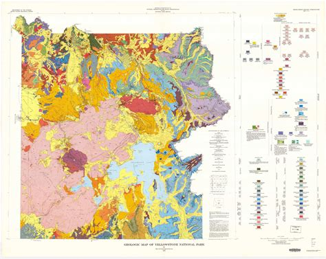 geological map of wildly colorful geologic maps of national parks and how