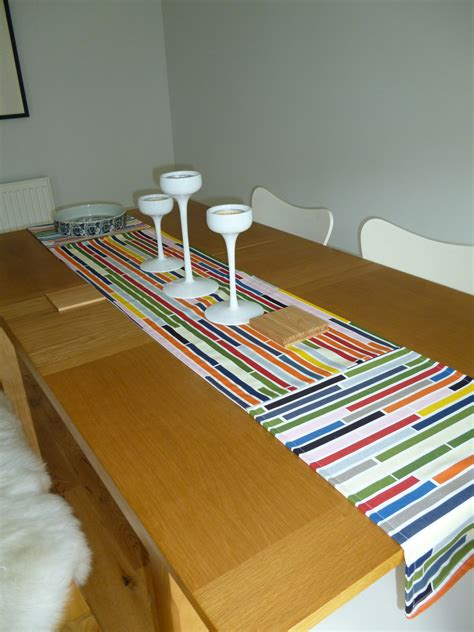ikea runners table runner with brick inspired ikea fabric sewing
