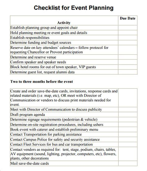 event management plan template event planning checklist 11 free documents in pdf