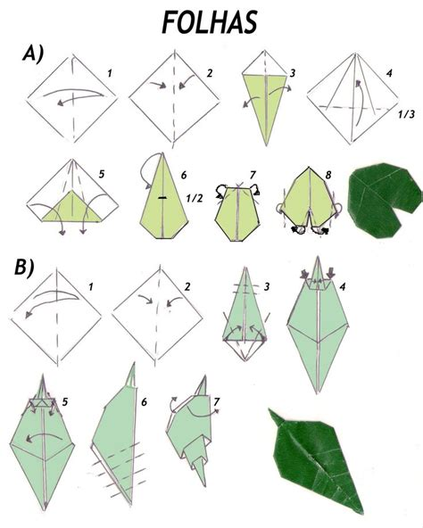 Origami Leave - 25 b 228 sta origami leaves id 233 erna p 229 origami