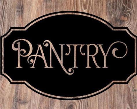 pantry door decal vinyl lettering  glass kitchen