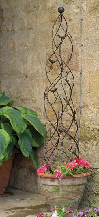 uk garden supplies metal pot obelisk