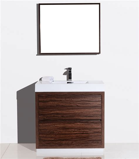 Modern Walnut Bathroom Vanity Bliss 36 Quot Walnut Floor Mount Modern Bathroom Vanity