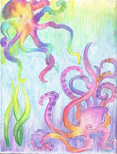 colorful octopus colorful octopus by calliopecloudcat on deviantart