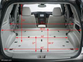 Ford Escape Trunk Dimensions Ford Escape Cargo Space Dimensions Car Interior Design