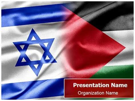 Israel Palestine Flags Powerpoint Template Background Subscriptiontemplates Com Israel Powerpoint Template