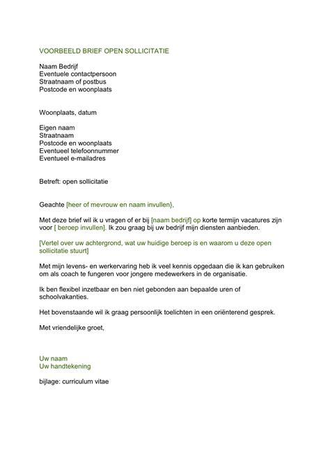 Voorbeeld Motivatiebrief Open Sollicitatie Bureau 2018 open sollicitatie brief voorbeeld cv voorbeeld 2018