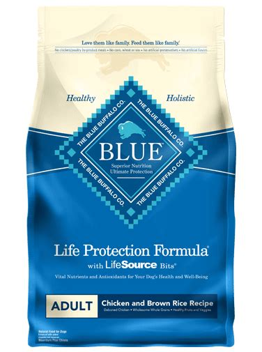 blue buffalo chicken and brown rice puppy protection formula 174 food chicken brown rice recipe