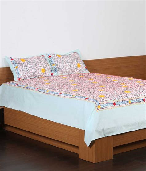 unique bed sheets unique crafts cotton embroidered bed sheets with 2 pillow