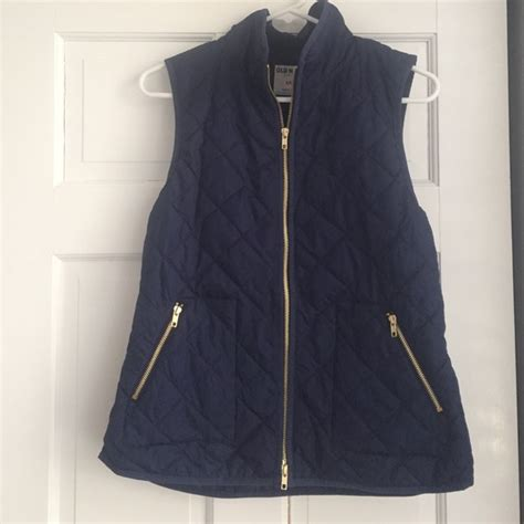 Thin Quilted Vest 50 navy outerwear navy thin quilted vest