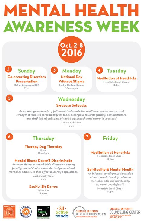 mental health awareness week syracuse university