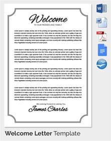 welcome template 31 hr welcome letter template free sle exle