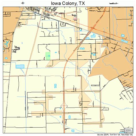 the colony texas map iowa colony texas map 4836092