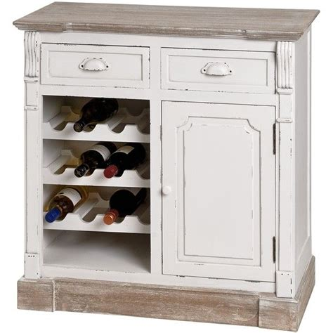 Wine Storage Kitchen Cabinet Shabby Chic Distressed White Kitchen Cabinet With Wine Rack