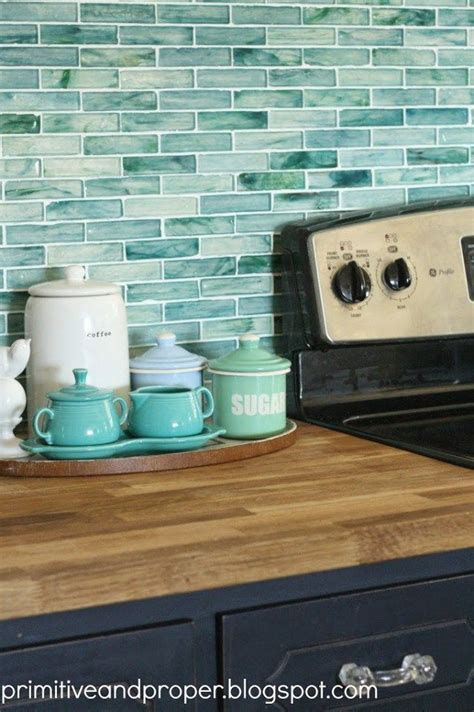 recycled glass backsplash tile best 25 aqua kitchen ideas on country kitchen