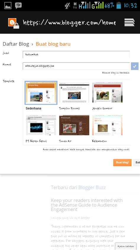 cara membuat blog via hp android cara membuat blog di hp android teknologi241