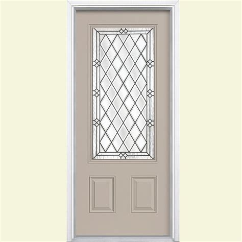 steel exterior doors for home masonite 36 in x 80 in halifax 3 4 rectangle painted