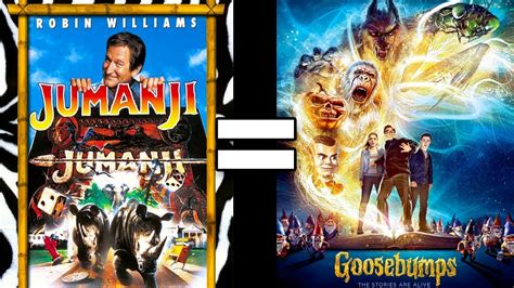 jumanji movie vs book 24 reasons jumanji goosebumps are the same movie youtube