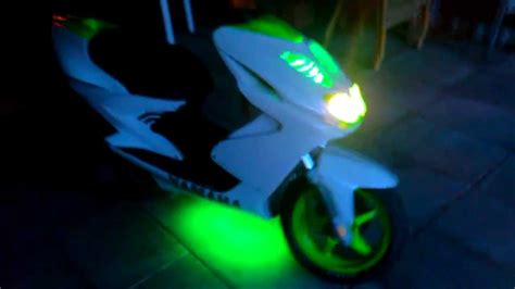 Lu Stop Led Yamaha Arox yamaha aerox with green led neon