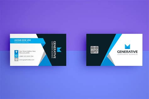 business card template with photo business card template vol 04 business card templates