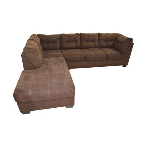 64 Off Brown L Shaped Chaise Sectional Sofa Sofas L Shaped Sectional Sofa Sales