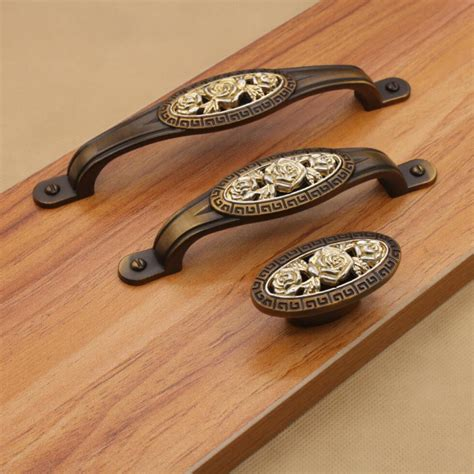 furniture handles roses antique kitchen cabinet knobs and