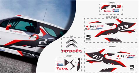 Racing Paradise Sticker by Stickers Citroen Ds3 R3