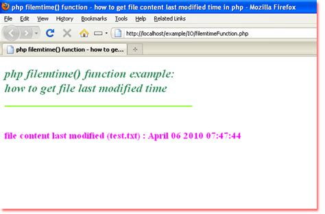 php date format br php by exle php filemtime function how to get file