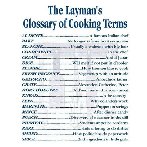 more cooking terms ideas for haley pinterest