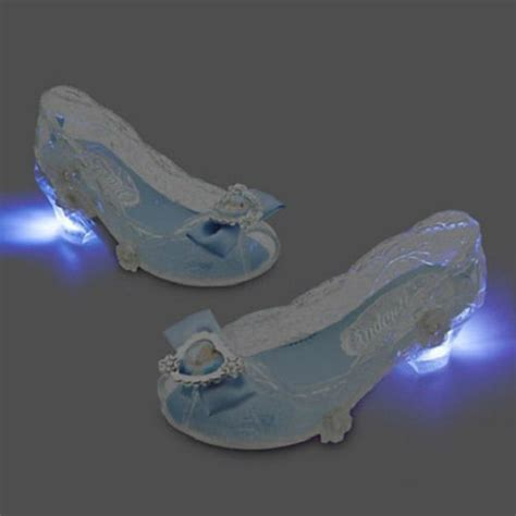 Disney Store Cinderella Light Up Blue White Dress Shoes 7