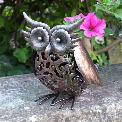 Handmade Garden Ornaments - solar powered garden light handmade metal filigree patio