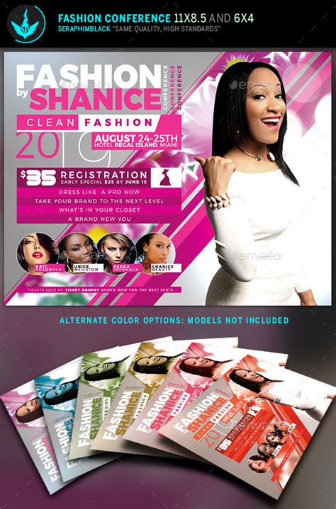 Fashion Conference Flyer Template 2 By Seraphimblack Graphicriver Conference Flyer Template