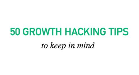 keeps hacking 50 growth hacking tips to keep in mind marketing and growth hacking