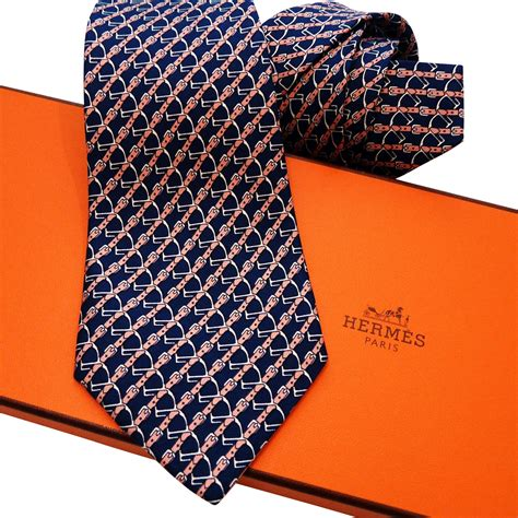 authentic pre owned hermes silk tie 7020 ta navy pink from