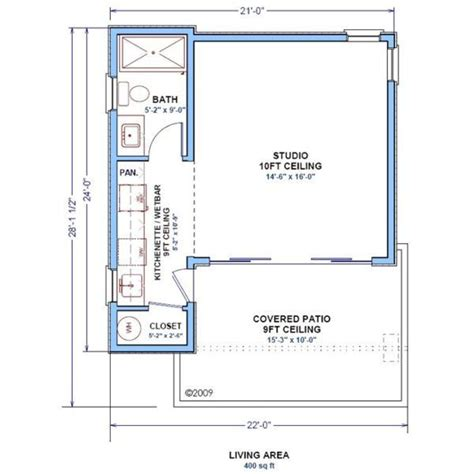 400 square foot 400 square feet 1 batrooms on 1 levels house plan 3274