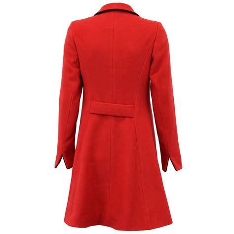 6561 Dress Jaket Coat coat womens jacket wool look button warm winter lined new ebay
