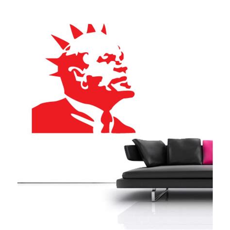 banksy wall stickers banksy lenin wall sticker wall stickers