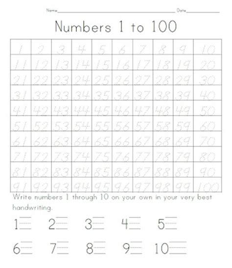 printable tracing numbers 1 100 100 tracing worksheets http kootation com tracing