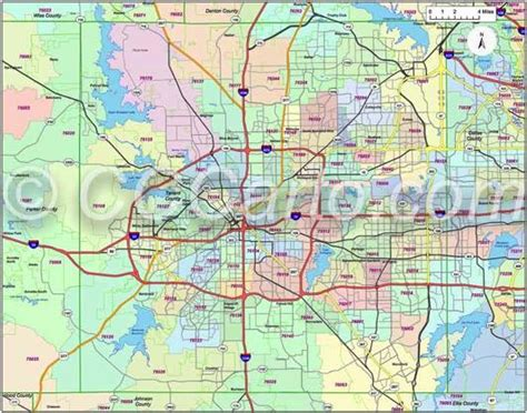 fort worth texas zip code map fort worth zip code map my