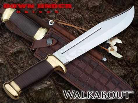 knife center reviews knives the walkabout bowie knife 8 quot polished